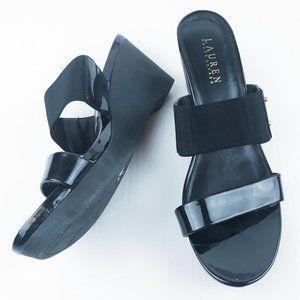 Ralph Lauren Rhianna Wedge Sandals Slip On Sz 10B